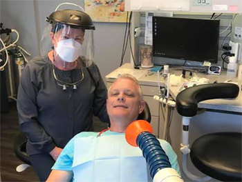 COVID-19 virus safety negative pressure suction protects the patient and dentist in North Olmsted 44070.